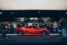Sold for a record-setting $1.2MM! The auction for the first production #NSX is closed here at Barrett-Jackson in Scottsdale. And representing the Pediatric Brain Tumor Foundation (charitable beneficiary), Phoenix local Austin is pictured in the passenger seat.