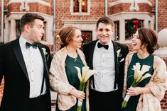 Bob and Casey's beautiful winter wedding. Here is the groom with his siblings. Florals by Love in Flower Mount Holly, Mount Laurel, Bridesmaid Bouquet, Bridesmaids, Calla Lilies, Send Flowers, Local Florist, Boutonnieres, Flower Delivery