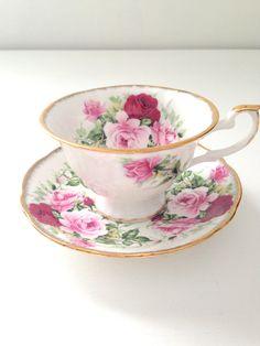 Vintage English Bone China Tea Cup and Saucer by MariasFarmhouse