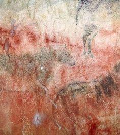 Ces chevaux, peints dans la grotte de Tito Bustillo sont vieux d'au moins 29.000 ans (Crédit photo: Pedro Saura)