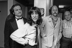 John Belushi and Patti Smith backstage at Saturday Night Live. Patti Smith, Just Kids, Charlie Chaplin, Saturday Night Live, Snl, Music Is Life, Comedians, Comedy, Singer