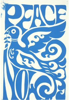 """Peace Now"" is another anti-war protest poster from the 1960's"
