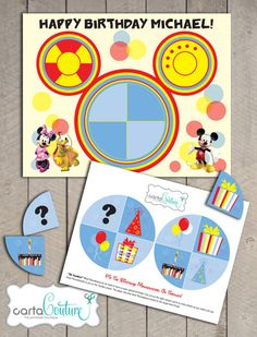 DIY Printable Disney's Mickey Mouse Clubhouse Pin The Birthday Mousekatool on Toodles Game Birthday Party Poster - by Carta Couture on Etsy, $9.00