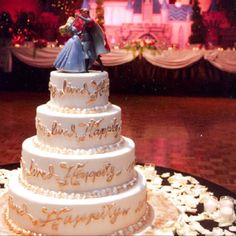 Fairy Tale Themed Wedding Sleeping Beauty 3 I Love How The Cake Says