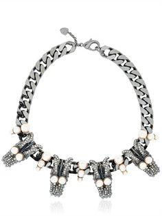 schield  dragon necklace #luisaviaroma