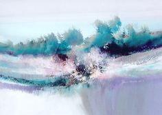 """""""The Softness of December"""" – Contemporary Landscape Painting / Watercolor Landscape Painting"""