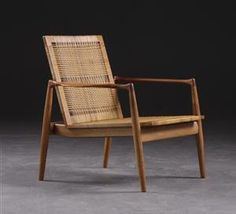 Finn Juhl | chair with woven rush seat