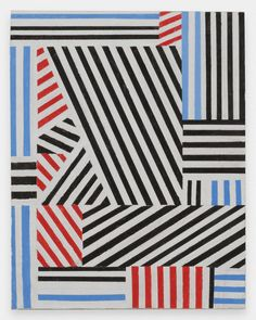 Thomas Kapsalis, Stripes, 2014, Acrylic on canvas board, 19 x 15 in
