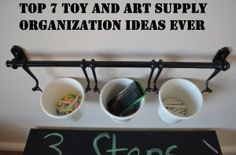 Top 7 Toy and Art Supply Organization Ideas Ever- fun!  I love it!