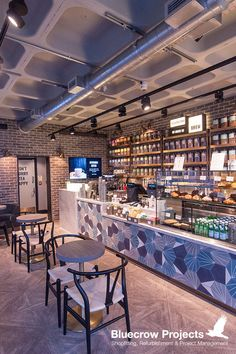 Bluecrow Projects has completed Amanzi Tea in Brewer Street #Restaurants #Interiors