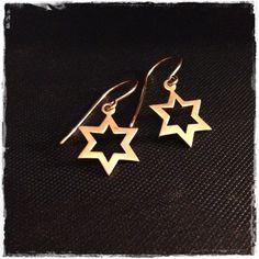 Star of David Earrings  Judaica Jewelry Vintage by GlowsShop, $15.00