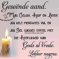 Good Night Prayer, Good Night Blessings, Good Morning Good Night, Evening Greetings, Good Night Greetings, Sunday Quotes, Night Quotes, Afrikaanse Quotes, Goeie Nag