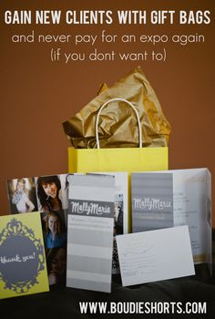 Gain New Clients with Gift Bags and Never Pay for an Expo Again (if you don't want to) | Boudie Shorts