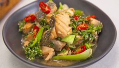 Salmon and Bok Choy Chilli Stir-Fry Served with Fragrant Quinoa | Good Chef Bad Chef