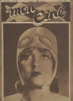 Clara Bow on the cover of the June 1930 issue of French Movie Magazine Mon Cine