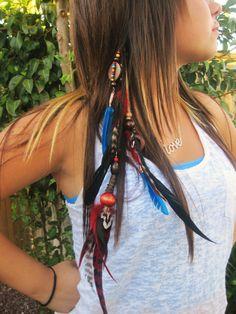 Amazing hair feathers.