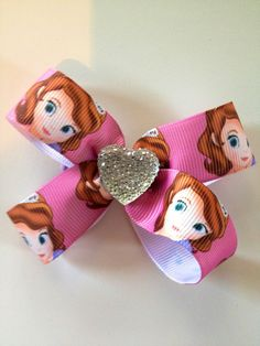 Disney princess Sofia the First Bow Clip  with by OliverandMay, $4.95