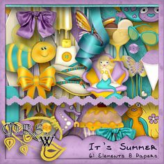 Scrap Kit  It's Summer by MrsWMouseClicks on Etsy, $1.99