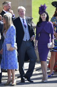 Countess Karen Spencer  - What Celebrity Guests Wore To Meghan Markle And Prince Harry's Wedding - Photos