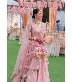 Pink Bridal Lehenga, Pink Lehenga, Indian Bridal Lehenga, Indian Bridal Outfits, Lehenga Blouse, Indian Designer Outfits, Bridal Dresses, Indian Designers, Traditional Blouse Designs