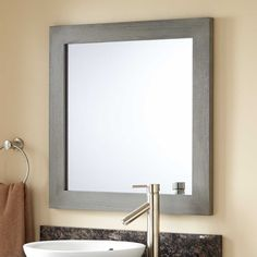 Wulan Teak Mirror Gray Wash