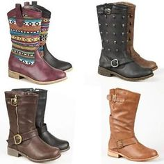 pictures of mid calf riding boots flat | Clothes, Shoes & Accessories > Women's Shoes > Boots