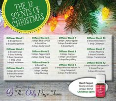 Young Living Essential Oils:  12 Scents of Christmas Diffuser Blends | For more information on Young Living Essential Oils, come visit:  WWW.THESAVVYOILER.COM