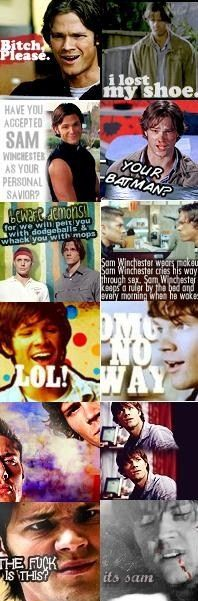 Genni is one lucky chick...I can't start to describe how much I love him!!     Sam Winchester // Jared Padelecki montage
