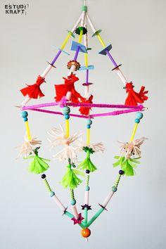 Chandelier. Join us on www.facebook.com/estudikraft Crafts For Kids, Workshop, Join, Chandelier, Paper Crafts, Facebook, Projects, Ideas, Crafts For Children