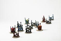도자기촛대=연인촛대·꽂이 백자토·색유·1250도산화소성 이효순도예작품.