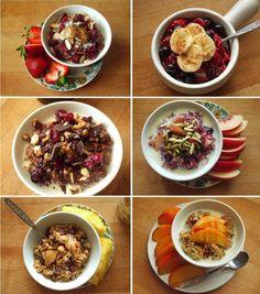 Oatmeal 6 ways