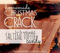 """christmas Crack"" {aka Saltine Toffee Candy} With Butter, Brown Sugar, Semi Sweet Chocolate Chips, Saltine Crackers Christmas Crack, Christmas Candy, Christmas Desserts, Christmas Treats, Holiday Treats, Holiday Recipes, Christmas Recipes, Holiday Cookies, Homemade Christmas"