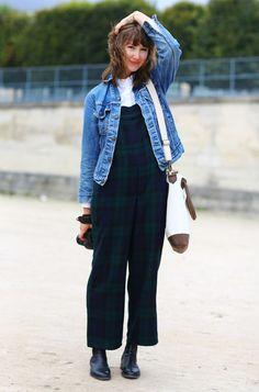 Denim and Overalls, Paris | Street Fashion | Street Peeper | Global Street Fashion and Street Style