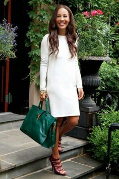 All white & a pop of green