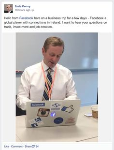 Ireland's Prime Minister - the Taoiseach - visited HQ and did a FB Q&A