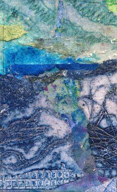 'Coastal Path' Rosie Britton, Mixed media collage Mixed Media Collage, Painting & Drawing, Coastal, Abstract, Drawings, Artist, Artwork, Travel, Summary