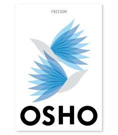 Cover design for OSHO spiritual book series by Kornmaipol S., via Behance