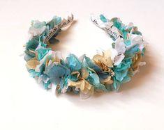 Corona de flores - tocado azul aguamarina - Blue flower crown - novias y invitadas - wedding flower crown - bridesmaids