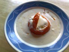 Flan de Mandarina (dentro de la mandarina), acompañado por una Sopa ligera de mandarina     ; )
