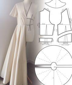 Skirt Patterns Sewing, Sewing Patterns Free, Clothing Patterns, Patterns For Dresses, Sewing Designs, Skirt Sewing, Vintage Dress Patterns, Crochet Patterns, Fashion Sewing