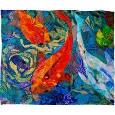 DENY Designs Home Accessories | Elizabeth St Hilaire Nelson Koi Fleece Throw Blanket