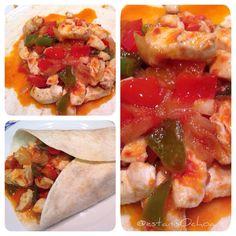 homECooking — Cena Jueves #burritos #fajitas #chickenfajitas...