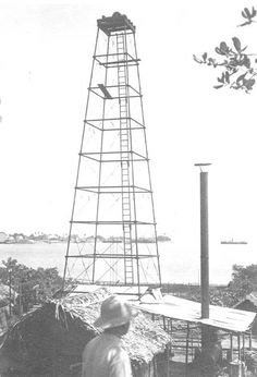 Primeiro poço de petróleo no Brasil, 1939. Lobato (BA). (CPDOC/ AN foto 014)