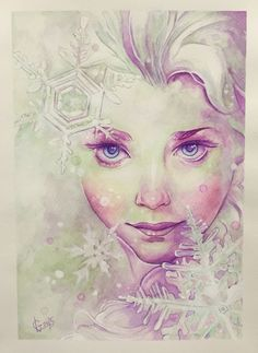 Elsa watercolors