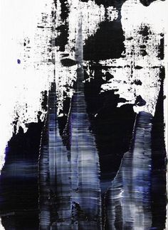 abstract N° 1045, Koen Lybaert, oil on paper. #art