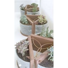 "<a href=""http://www.mylove2create.com/2015/09/succulent-planters-from-light-fixtures.html"" target=""_blank""><b>My Love 2 Create</b></a>…<b>Oh I love this one…not exactly a Thrift Store Find…even better…a friend gave these Light Fixtures to Mindi and what she did with them is beyond creative!  She made Succulent Planters from them…the sit…the hang and more!  You have to check out this DIY…you will be totally inspired!</b>"