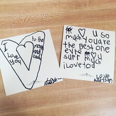 When they write each other notes....U #lunchnotes #momlife #myloves #fullhearts by tobimelissa