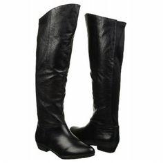 Steve Madden Women's Creation Knee-High Boot, Black Leather