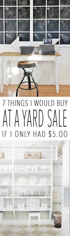 Diy Crafts Ideas : 7 Things I Would Buy At a Yard Sale If I Only Had $5.00