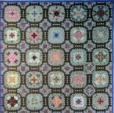 quilts UK 1900's | Lucy Boston's long hexagon quilt. 1900's | If I made quilts, I'd ma…